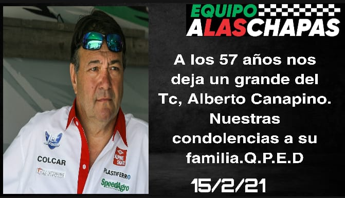 FALLECIO ALBERTO CANAPINO